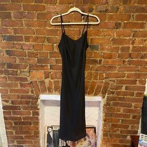 Betsey Johnson Black Slip Dress